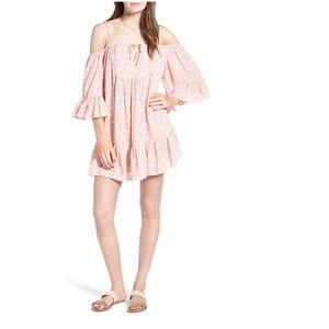 Tularosa | Hattie Pink Polka Dot Dress